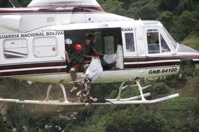 siembra desde helicóptero