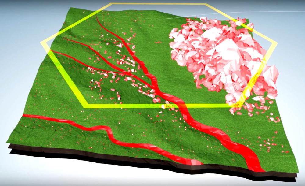 Segmentación del territorio para siembra con drones